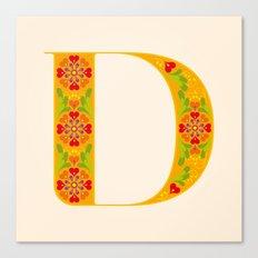 D - Amarilis Canvas Print