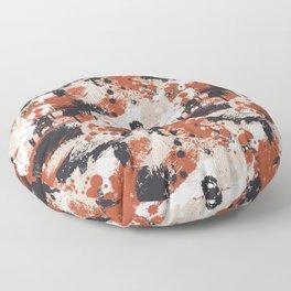 CUSTOM BURNT ORANGE & KHAKI SPLATTER CAMO 2 Floor Pillow
