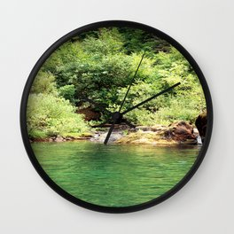 Peacefulness at the river.... Wall Clock
