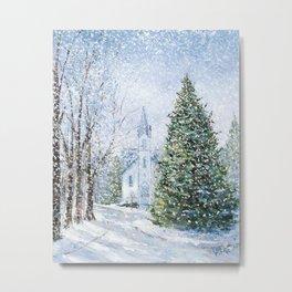 Christmas in Harbor Springs Metal Print