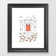 """""""There's no leaves like Autumn leaves"""" Framed Art Print"""