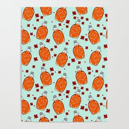 Super Canadian Maple Syrup Pattern Poster