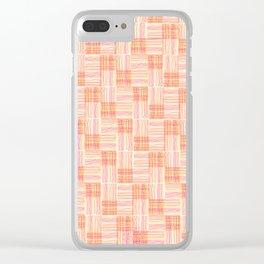 Interpretive Weaving (Autumn Breeze) Clear iPhone Case
