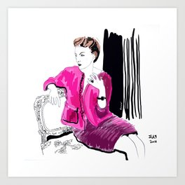 Fashion illustration. Barocco Art Print