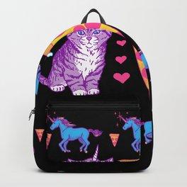 Kittycorn Pizza Rainbows Backpack