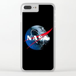 The Second NASA Death Star Clear iPhone Case