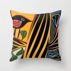 Singing bird Throw Pillow