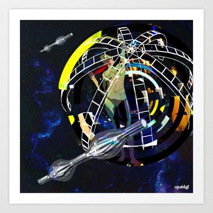 Deep Space Voyage 3 Art Print