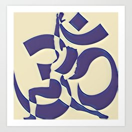 Abstract Yoga Art Design Art Print