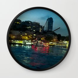The night lights. Wall Clock
