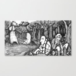 Marcus and Phinius down in the swamp. Canvas Print