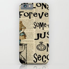 alice in wonderland quote time  iPhone Case