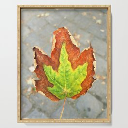 Autumn leaf Serving Tray
