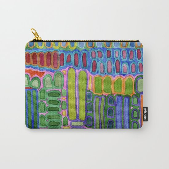 Colorful elongated Forms Pattern Carry-All Pouch