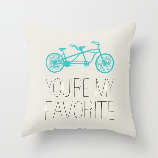 BIKE - YOU'RE MY FAVORITE Throw Pillow