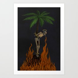 Palm Skeleton Art Print