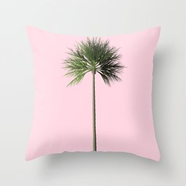 Palm, Pink, Relax Throw Pillow