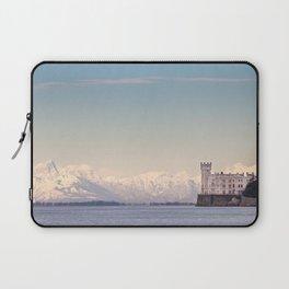 Miramar Castle with Italian Alps in background. Trieste Italy Laptop Sleeve