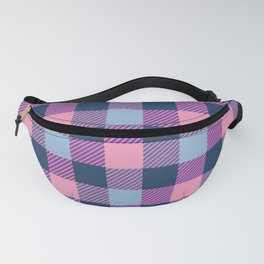 Pink, Purple, Blue Plaid Pattern Fanny Pack