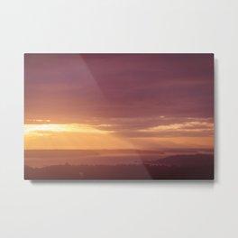 Olympic Mountains at Sunset Metal Print