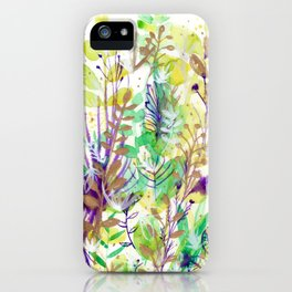 Leaves texture 02 iPhone Case