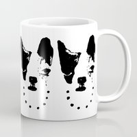 frenchie Mugs featuring Frenchie! by oma!