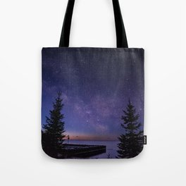 The Milky Way Along the North Shore of Minnesota Tote Bag