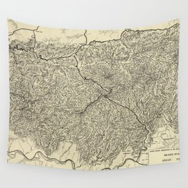 The Great Smoky Mountains National Park Map (1935) Wall Tapestry