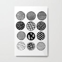 Simple Circle Patterns Collection Metal Print