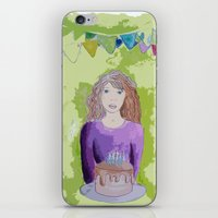 happy birthday iPhone & iPod Skins featuring Happy birthday! by Oh Lapislazuli