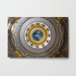 State Capitol Building Des Moines Iowa USA Metal Print