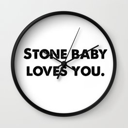 Stone Baby Love You (more) Wall Clock