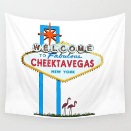 Welcome to Cheektavegas Wall Tapestry