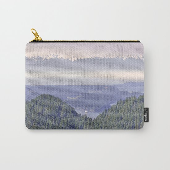 OLYMPIC RANGE AS SEEN FROM ORCAS ISLAND OVER MOUNT ENTRANCE Carry-All Pouch