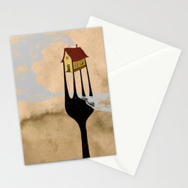 - fork home - Stationery Cards