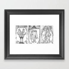 Haunted Clothing-Beetle, Ocean and Tree  Framed Art Print