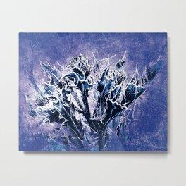 Thistle and Weeds_deep purple Metal Print