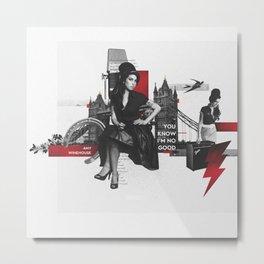 Amy W - London Metal Print