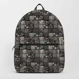 Faux Patchwork Quilting - Black Backpack
