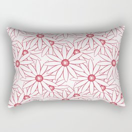 The floral ornament.Red and white. Rectangular Pillow