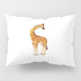 Cute giraffe. Vector graphic character Pillow Sham