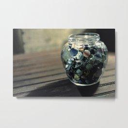 Vintage Glass Marbles 19 Metal Print