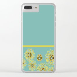bee's flower down Clear iPhone Case