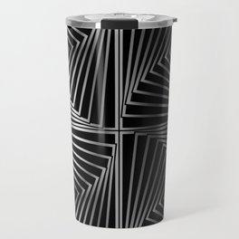 Rotating silver squares Travel Mug