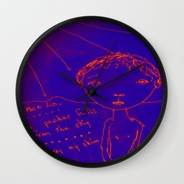 The Blue Itch Wall Clock