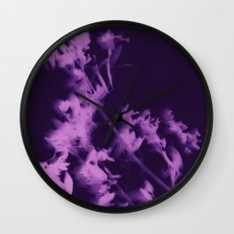 botanical - ultra violet Wall Clock