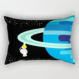 Space Odyssey   Astronaut & Planet   Space   Saturn   Galaxy   pulps of wood Rectangular Pillow