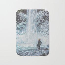 Winter Waterfall Bath Mat