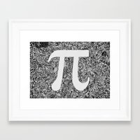 pi Framed Art Prints featuring PI by Nora