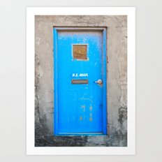 The Blue Door Art Print